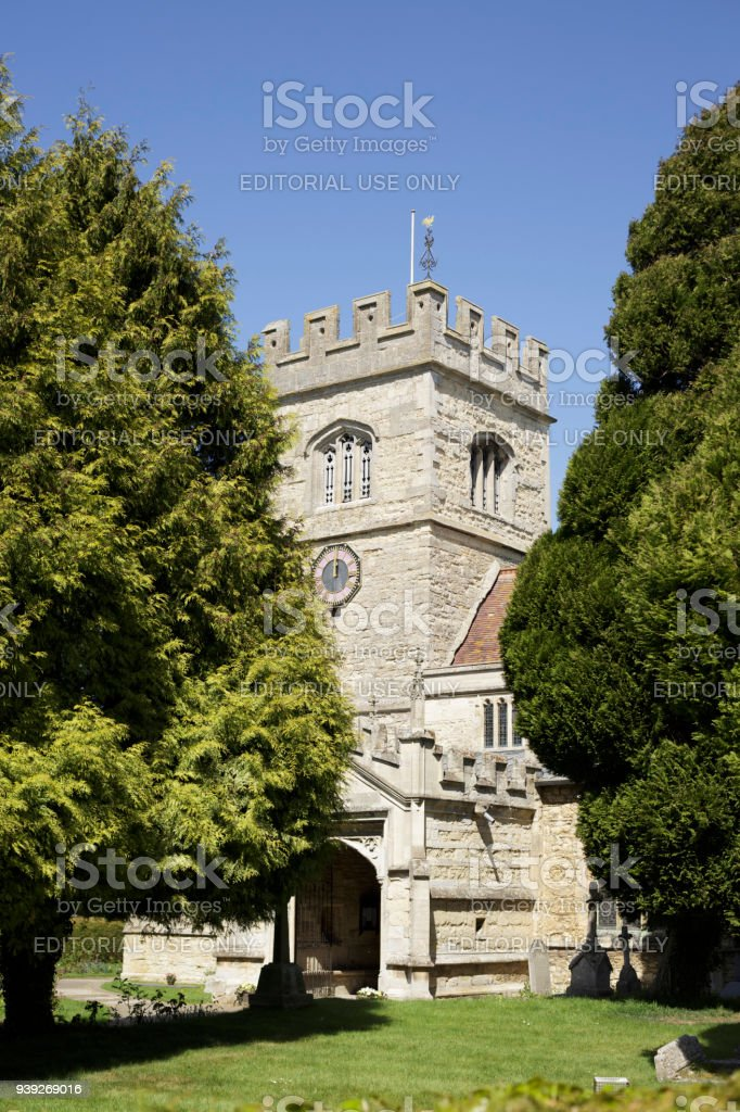 14th century old church England stock photo