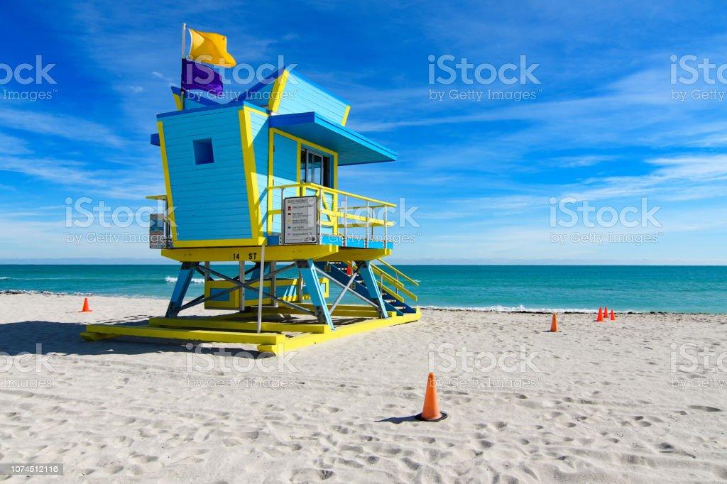 14th Street Rettungsschwimmer Station, Miami Beach – Foto