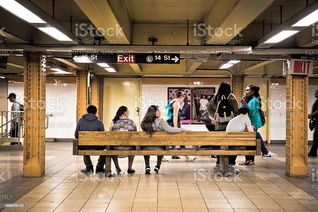 14th Street Subway Station NYC stock photo