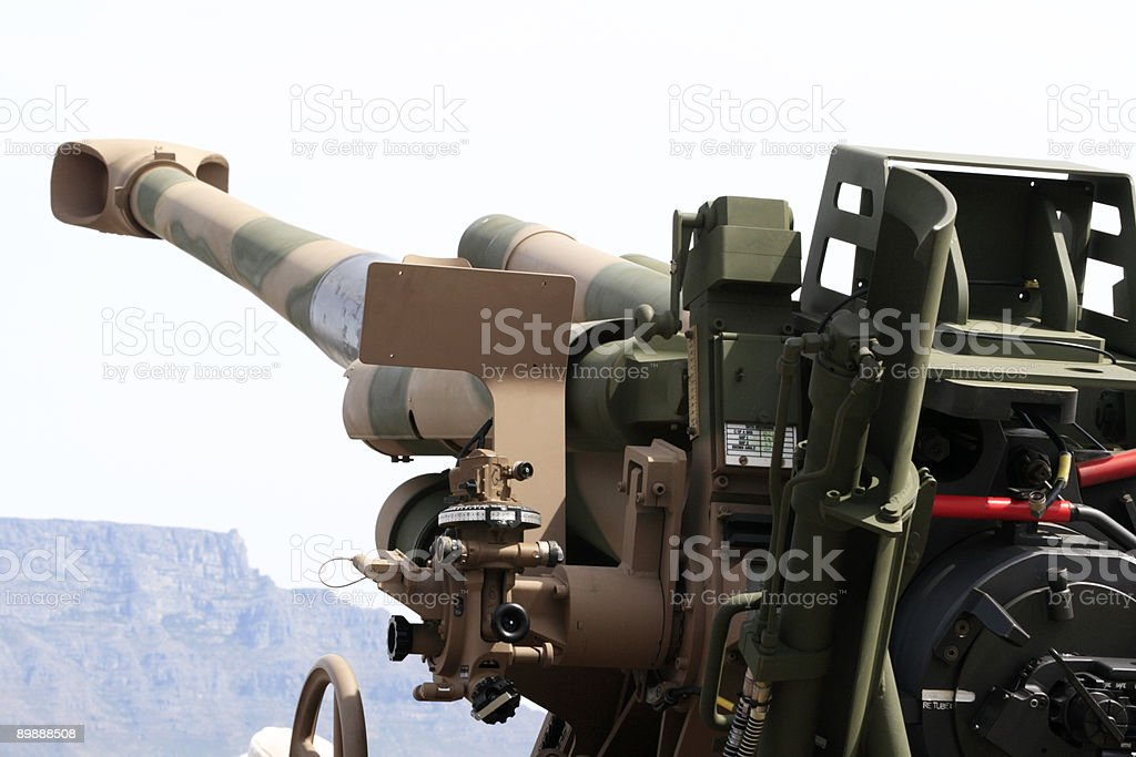 155mm G5 howitser stock photo