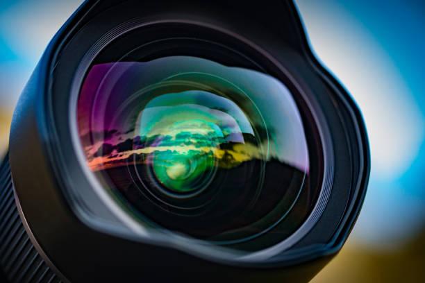 15mm seascape coucher du soleil - convexe photos et images de collection