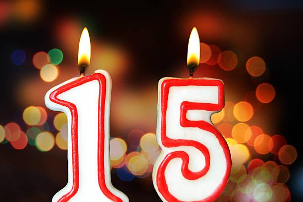 15-jährigen jubiläum - super torte stock-fotos und bilder