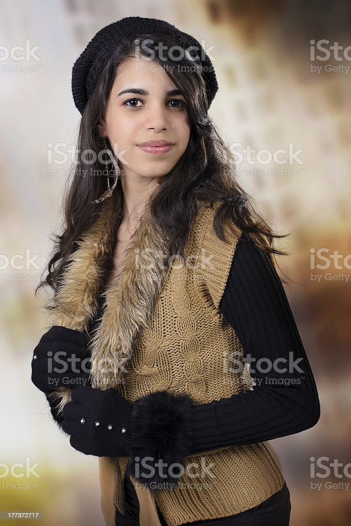 15th Anniversary Portrait-Autumn Clothes royalty-free stock photo