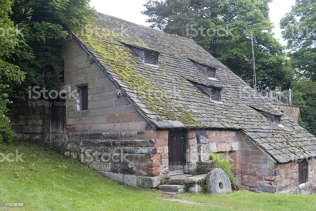 15th century watermill royalty-free stock photo