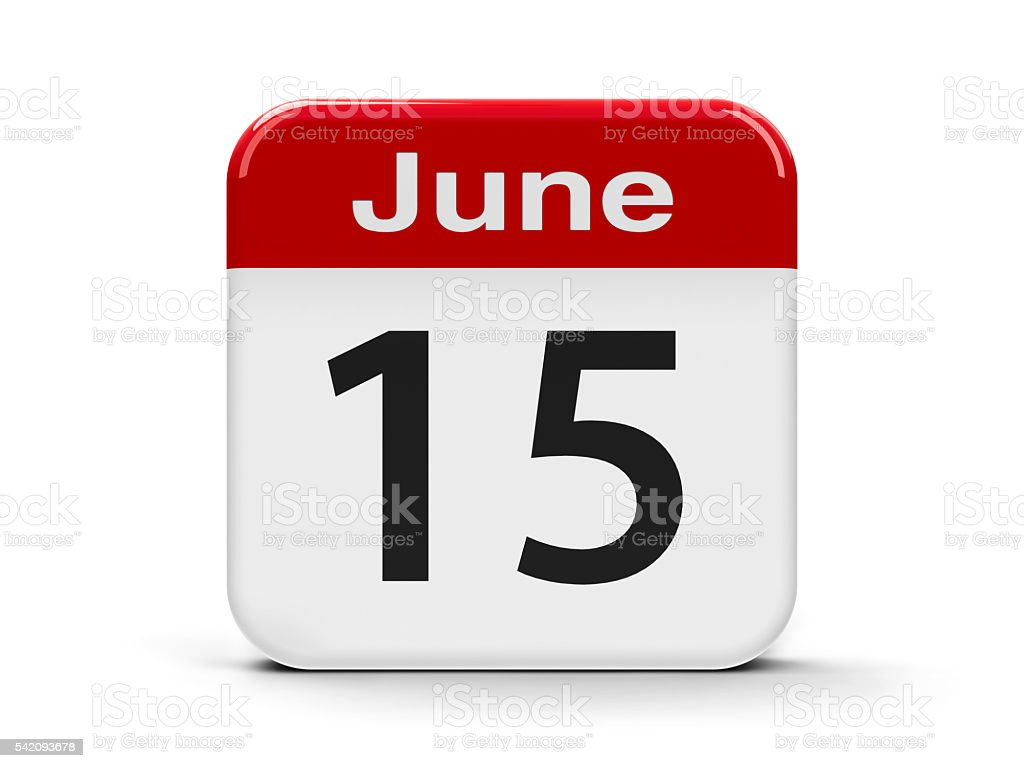 15th June stock photo