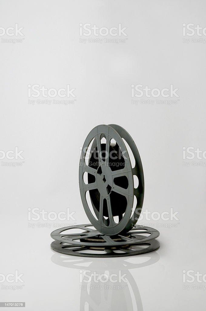 16mm film reels stock photo