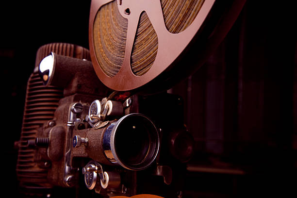 16mm movie projector - halbergman stock pictures, royalty-free photos & images