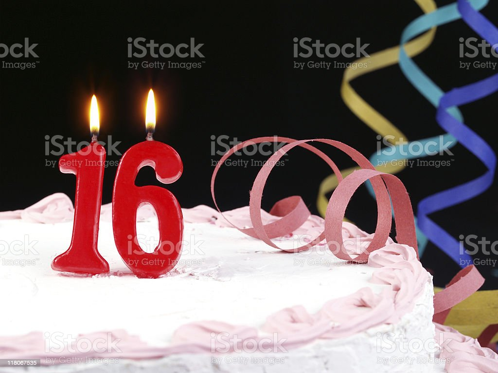 16th. Anniversary stock photo
