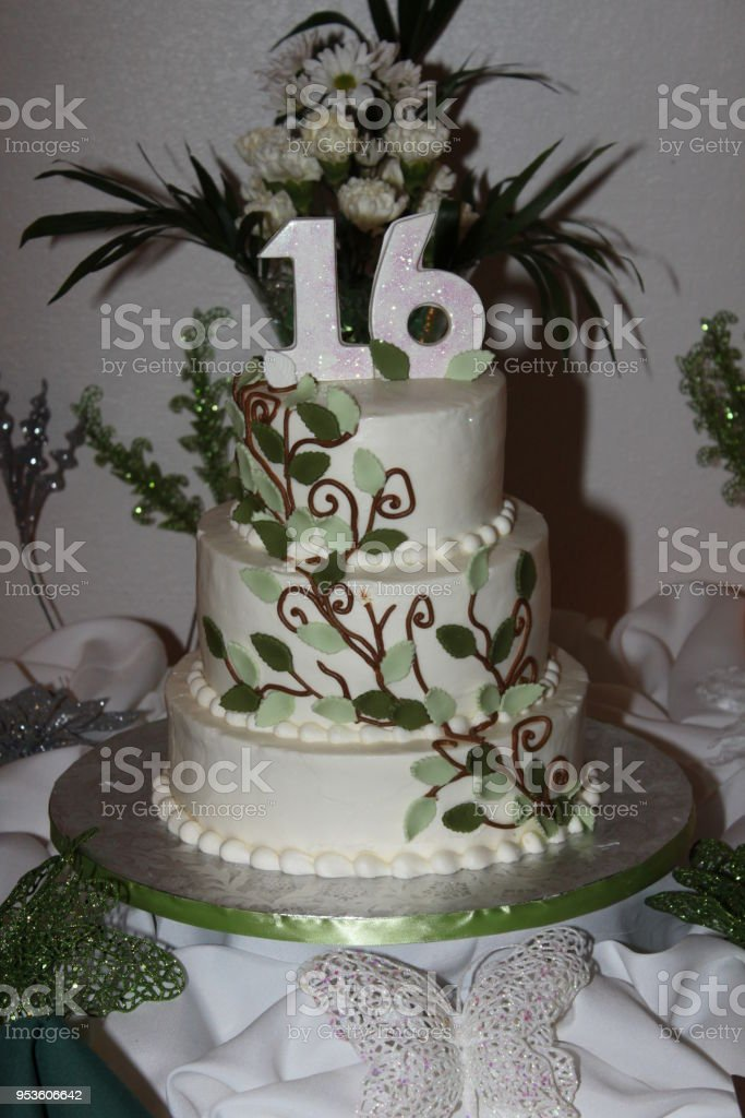 Fabulous 16Th Birthday Cake Stock Photo Download Image Now Istock Funny Birthday Cards Online Unhofree Goldxyz