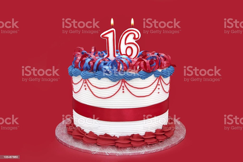 16th Cake stock photo