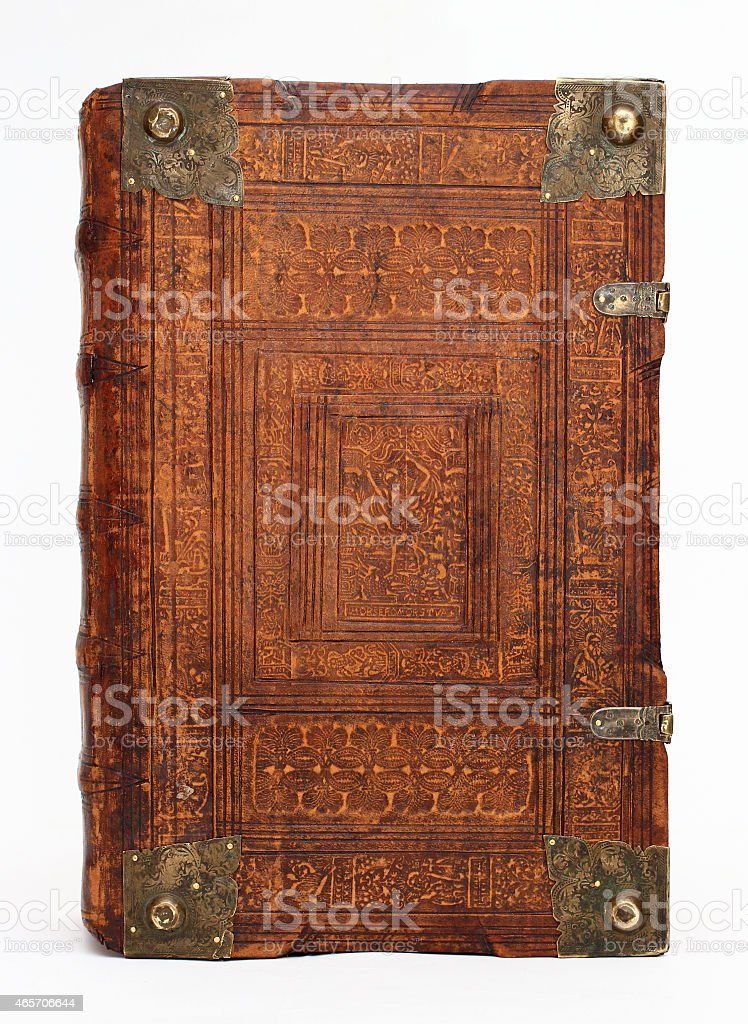 16th Century book cover stock photo