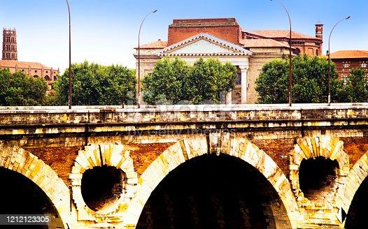 16th. Century Pont Neuf Bridge over River Garonne Toulouse Haute-Garonne Occitane Midi Pyrenees France Europe EU