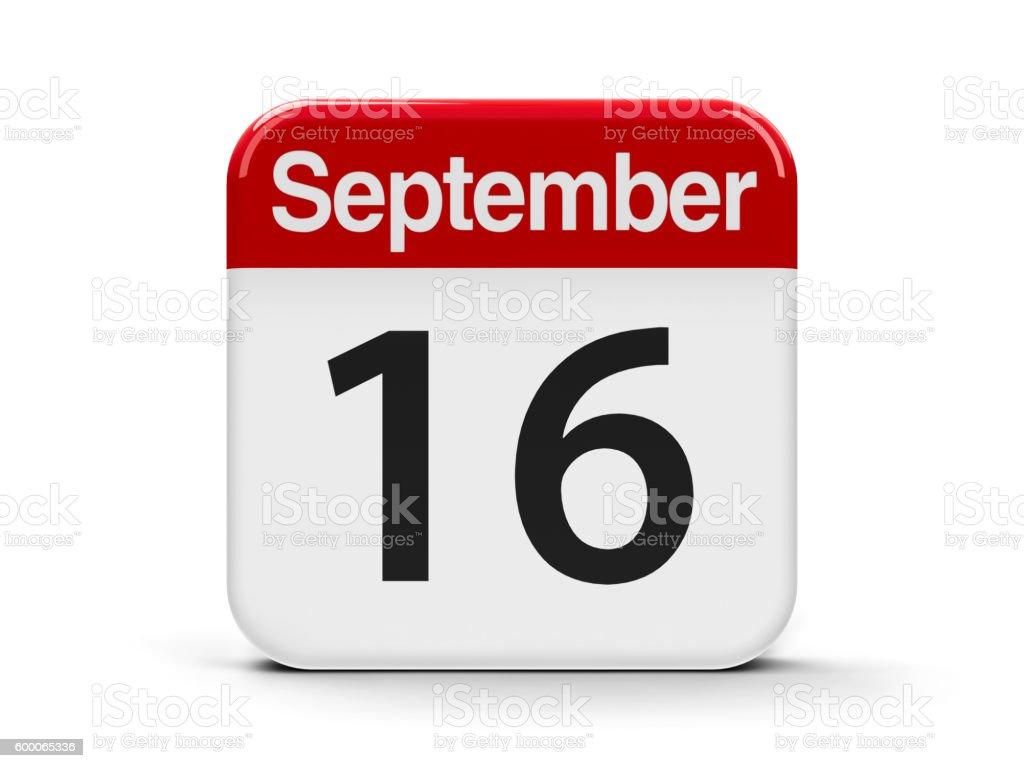 16th September stock photo