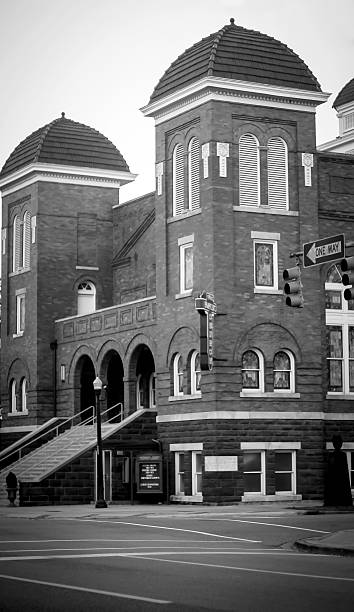 16th Street Baptist Church in black and white stock photo