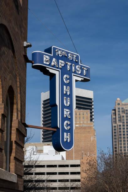 16th Street Baptist Church Sign stock photo