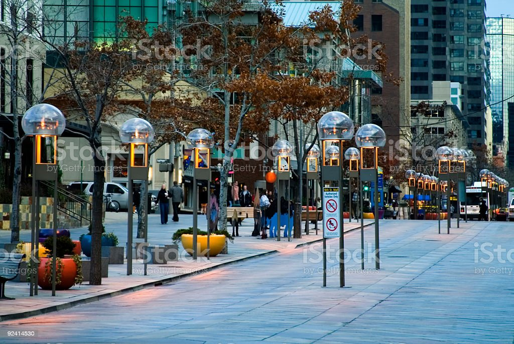 16th Street Mall in Denver LoDo stock photo