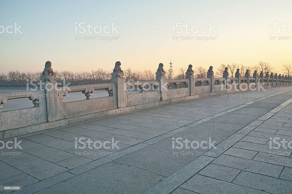 17-arch bridge in the Summer Palace royalty-free stock photo