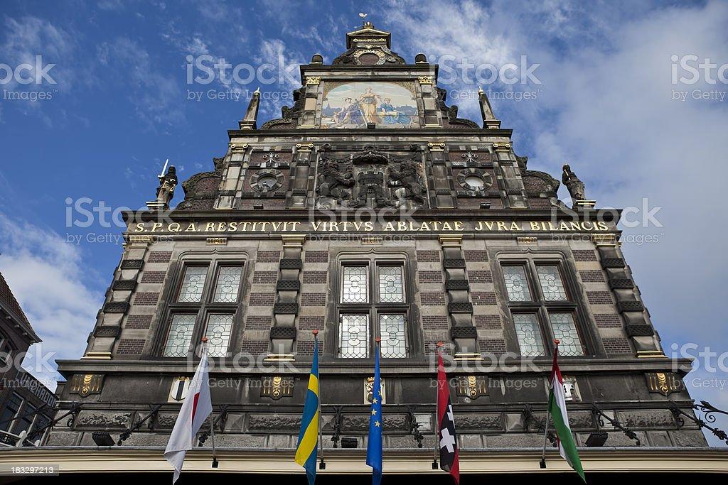 17th Century Building Alkmaar Netherlands stock photo