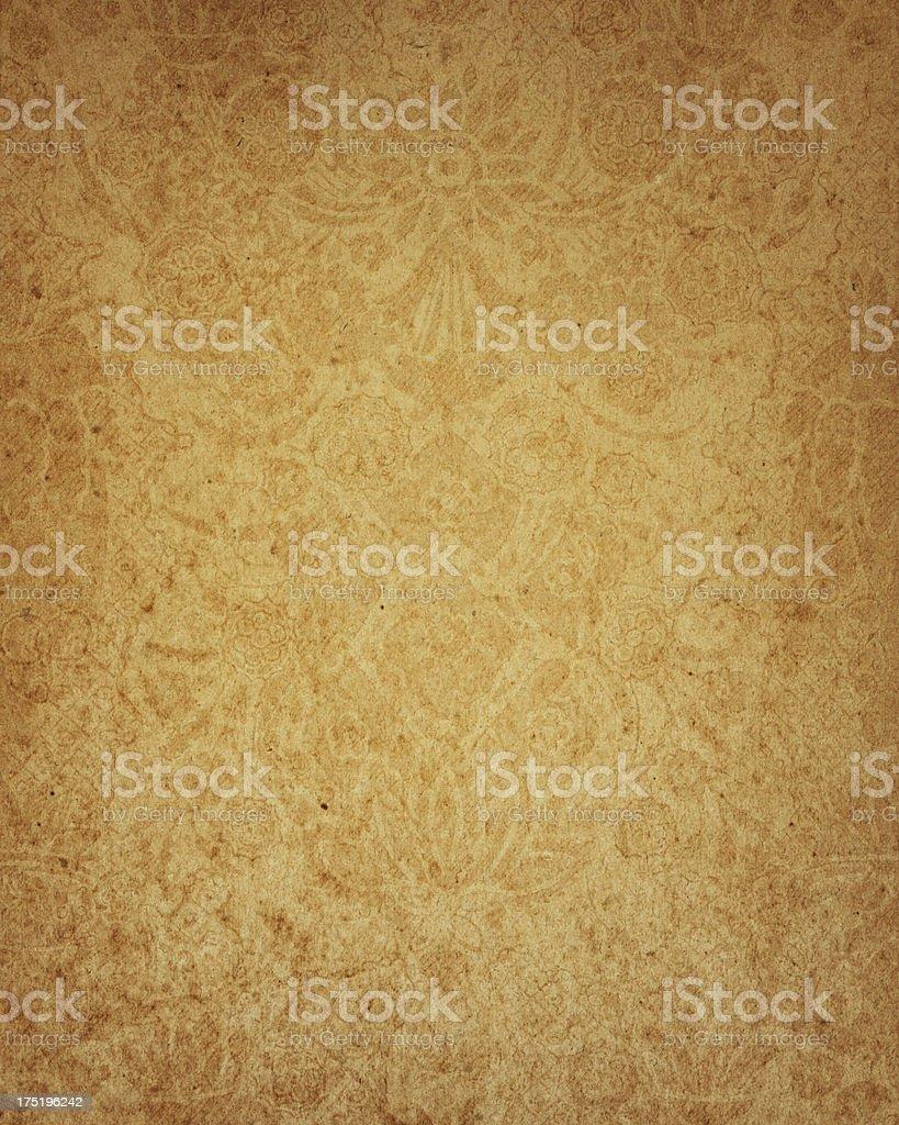 17th Century floral paper design stock photo
