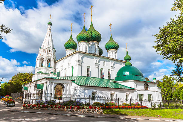 17 th century russisch-orthodoxe kirche in yaroslavl - russisch orthodoxe kirche stock-fotos und bilder