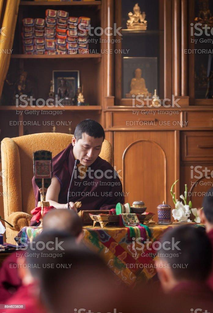 17th Gyalva Karmapa Trinley Thaye Dorje in KIBI stock photo