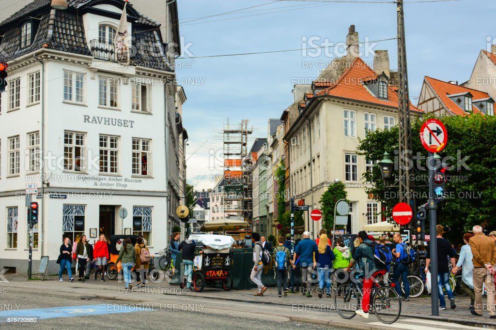 17th-century Nyhavn waterfront in Copenhagen stock photo