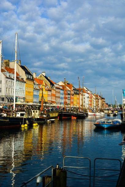 17th-century Nyhavn waterfront, new port of Copenhagen stock photo