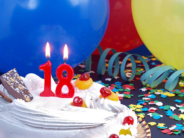 18th. anniversary - number 18 stock photos and pictures