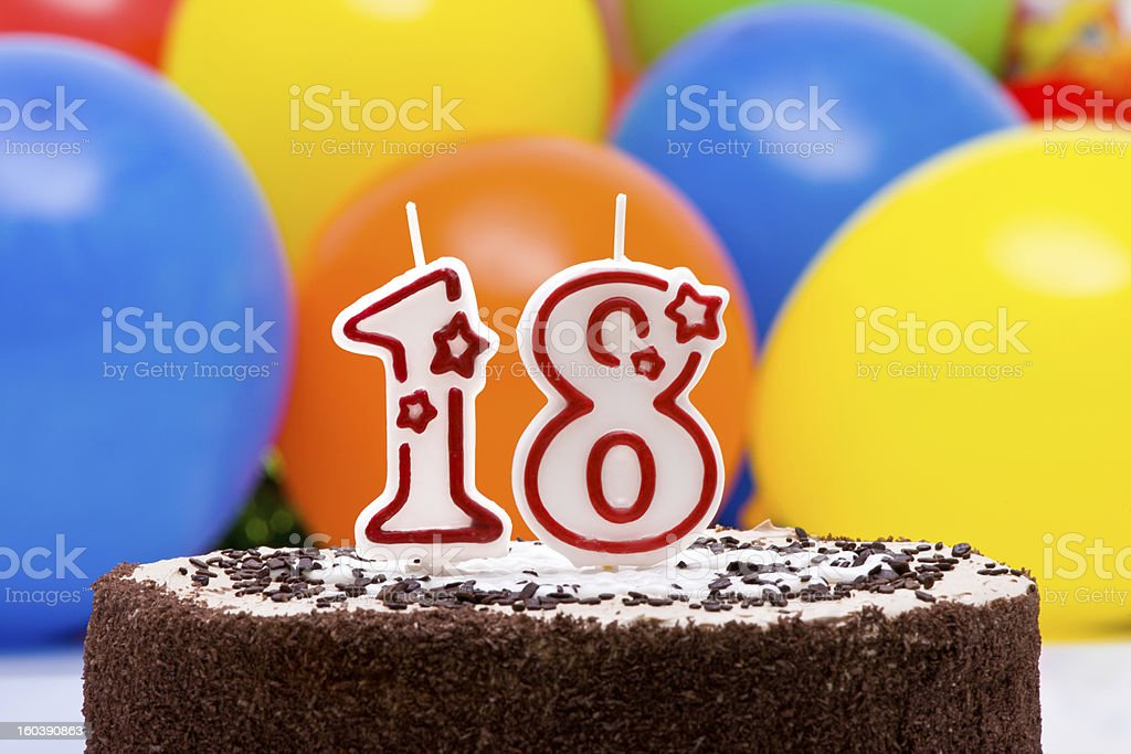 18th Birthday Cake stock photo