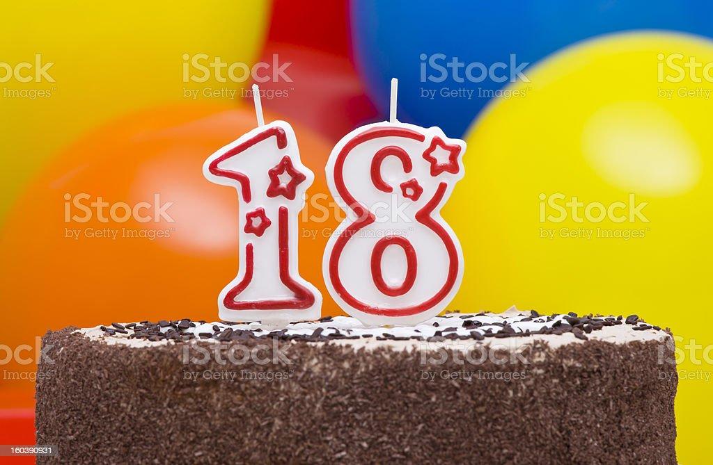 18th Birthday Cake royalty-free stock photo