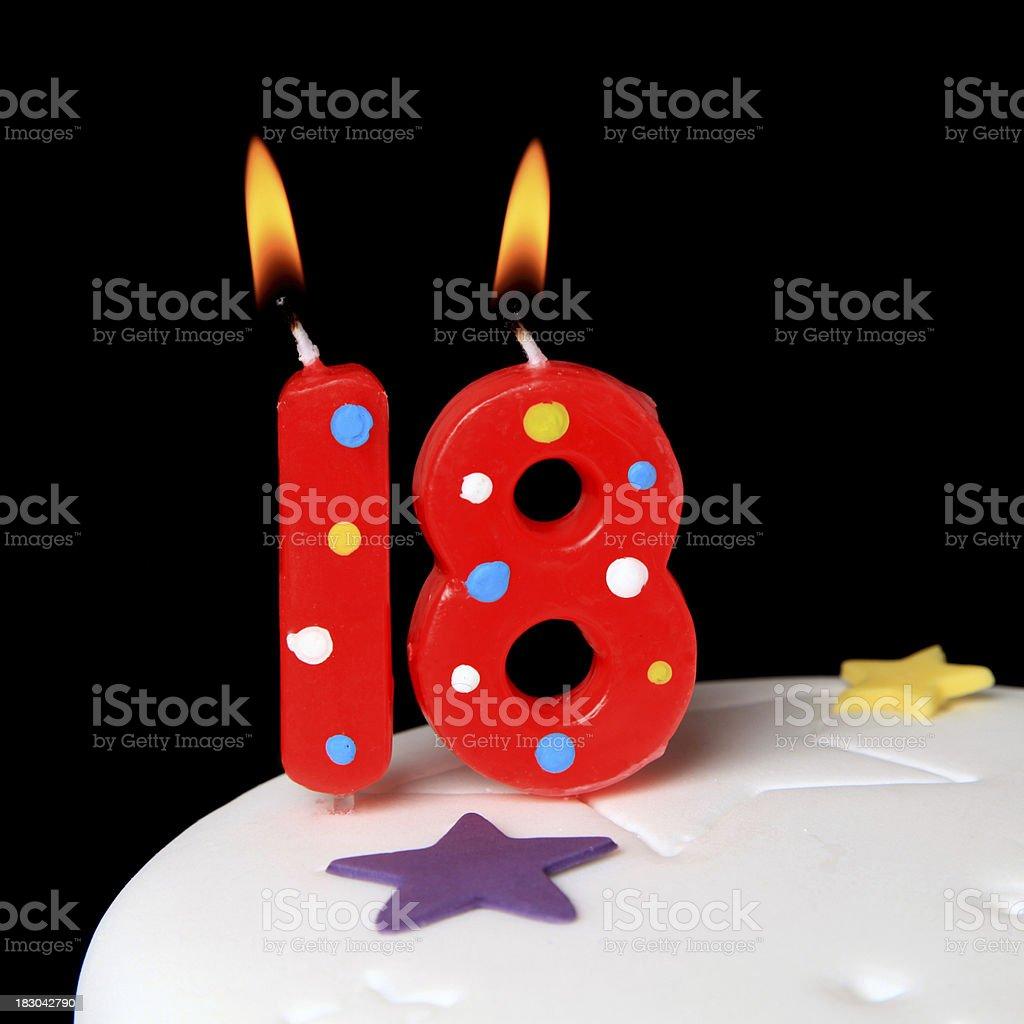 18th Birthday candles stock photo