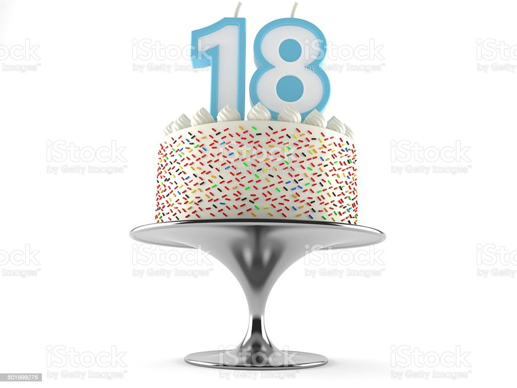 18th birthday stock photo