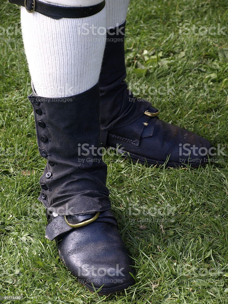 18th Century footwear. royalty-free stock photo