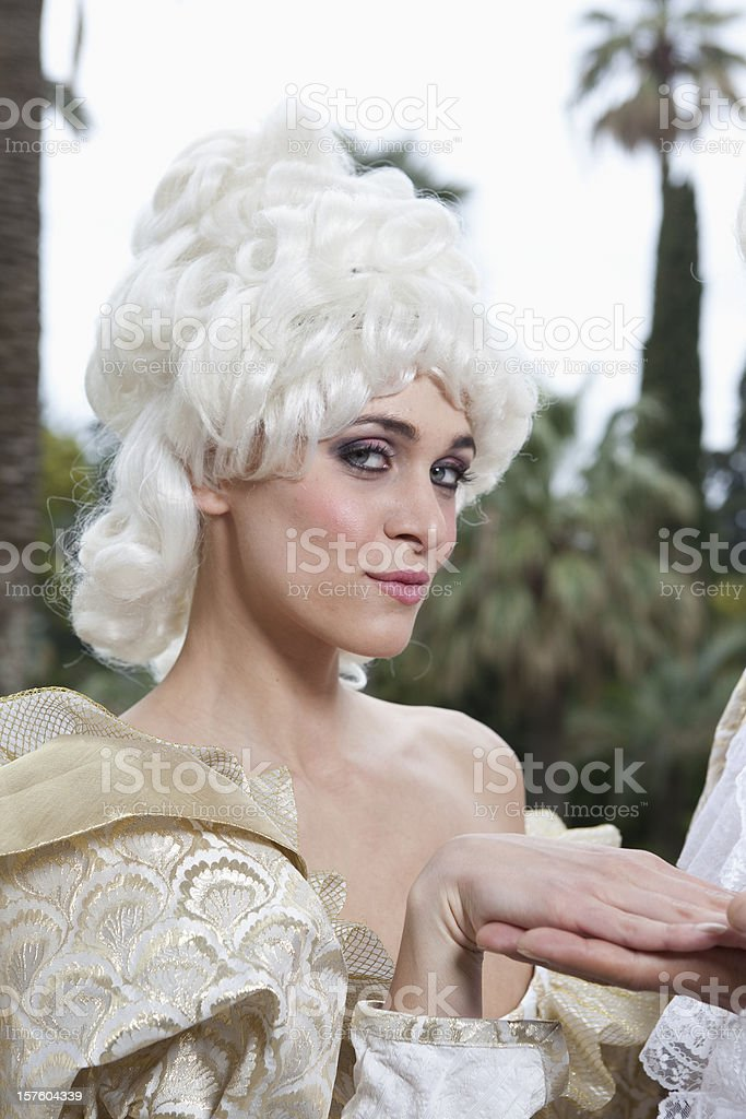 18th Century French Courtesan Marie Antoinette Style stock photo