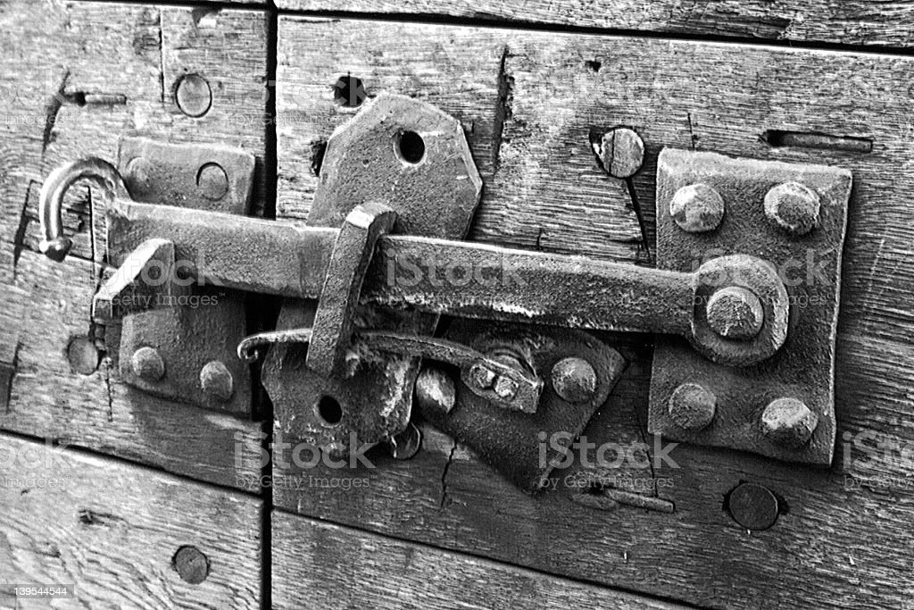 18th Century Gate Lock royalty-free stock photo