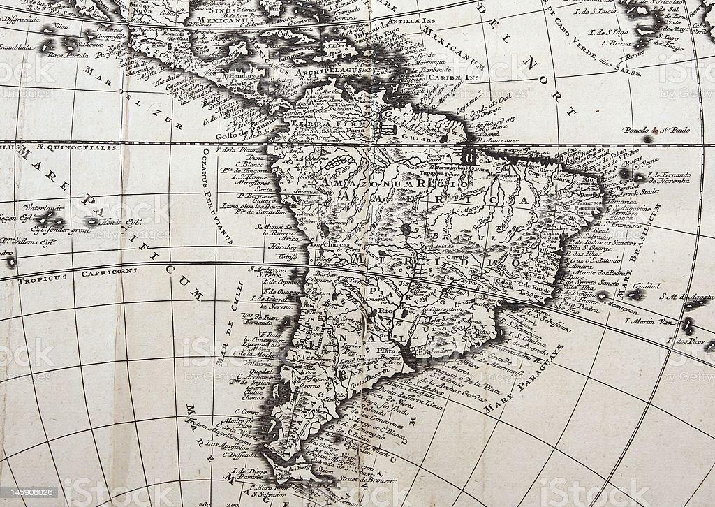 18 th century Mapa de América del Sur - foto de stock