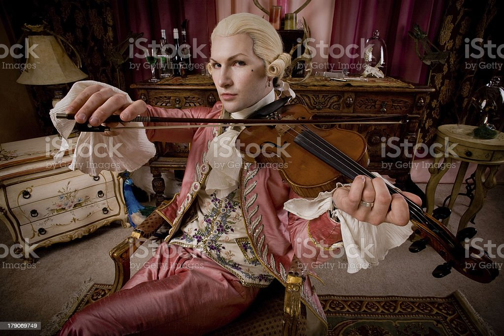 18th century serenade stock photo