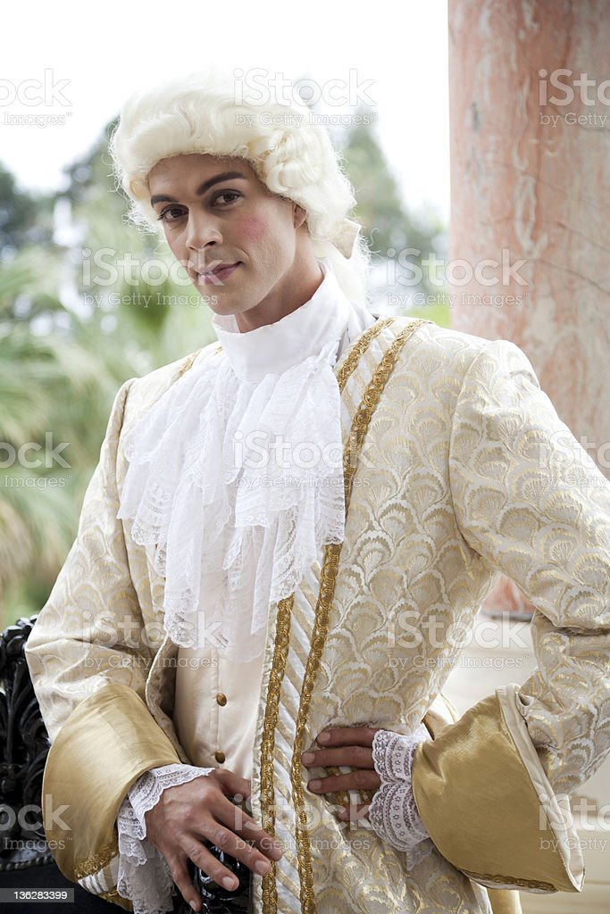 18th Century Style Costume Shoot stock photo