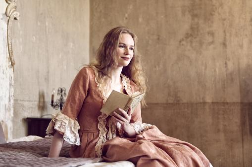 18th century woman in a castle