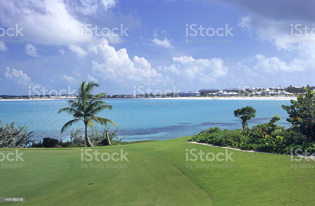18th Hole View stock photo