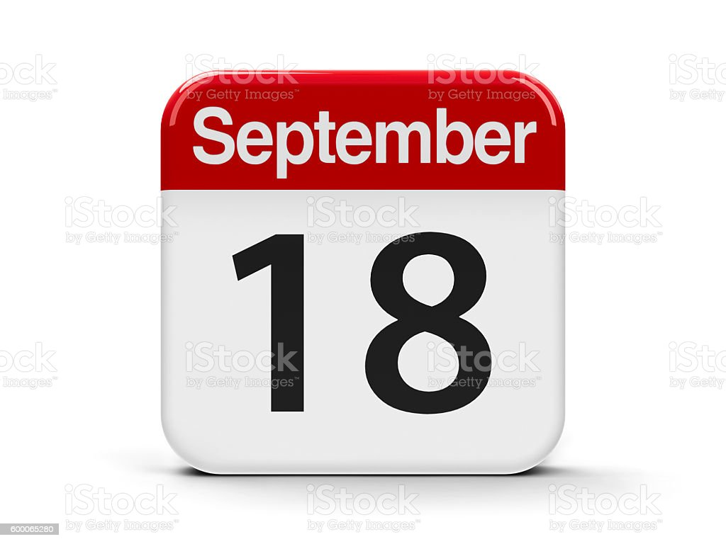 18th September stock photo