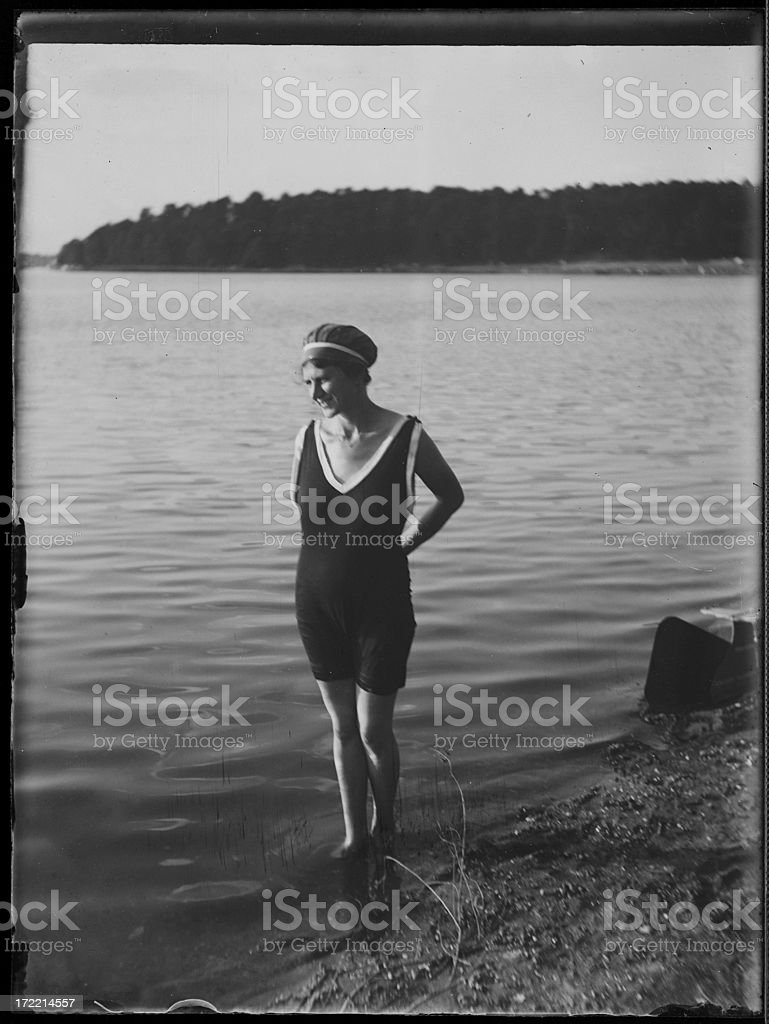 1920s Bathing suit (vintage) royalty-free stock photo