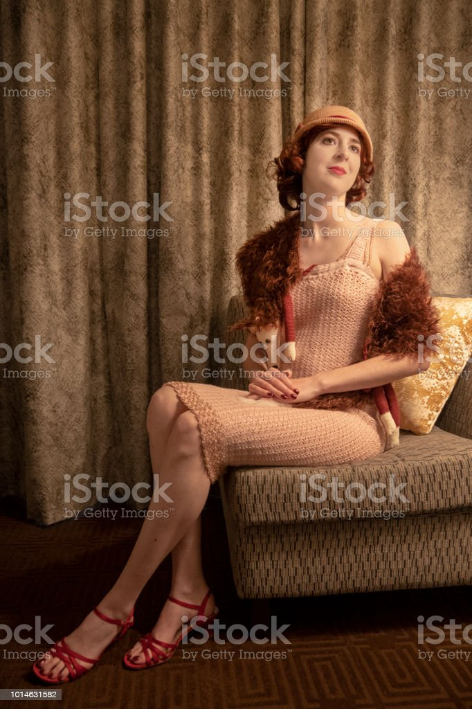 1920s flapper stock photo