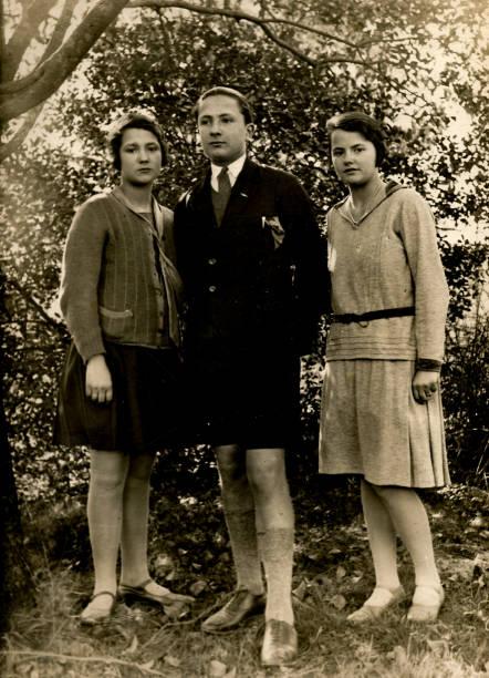 1920er jahre italienische familienporträt - italienischer abstammung stock-fotos und bilder