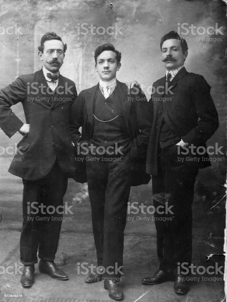 1920s italian family portrait stock photo