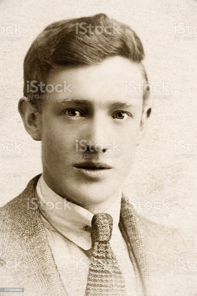1920s man Viintage photo of a man from the 1920s. 1920-1929 Stock Photo