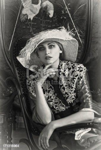 istock 1920s style. Female portrait 171316964