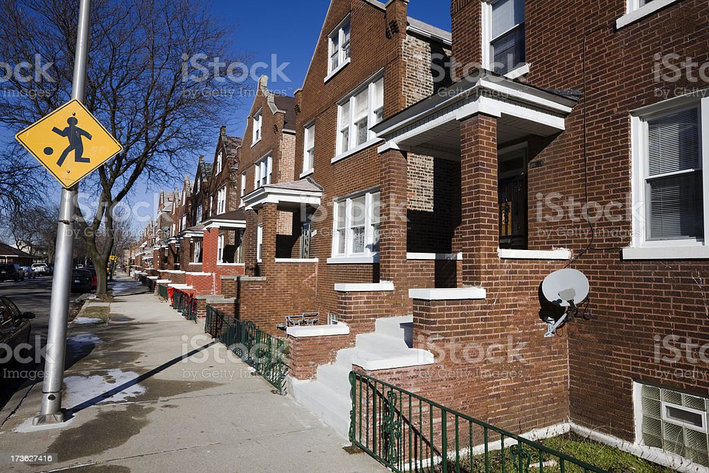 1930s Chicago Houses royalty-free stock photo