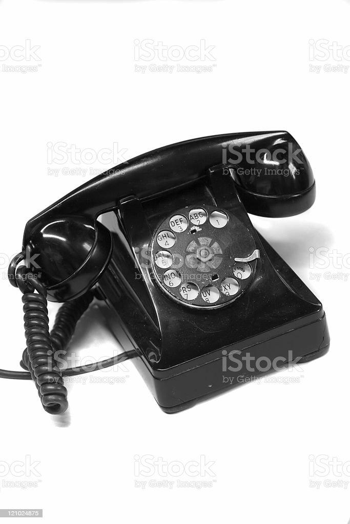 Década de 1940 Anitique telefone - foto de acervo