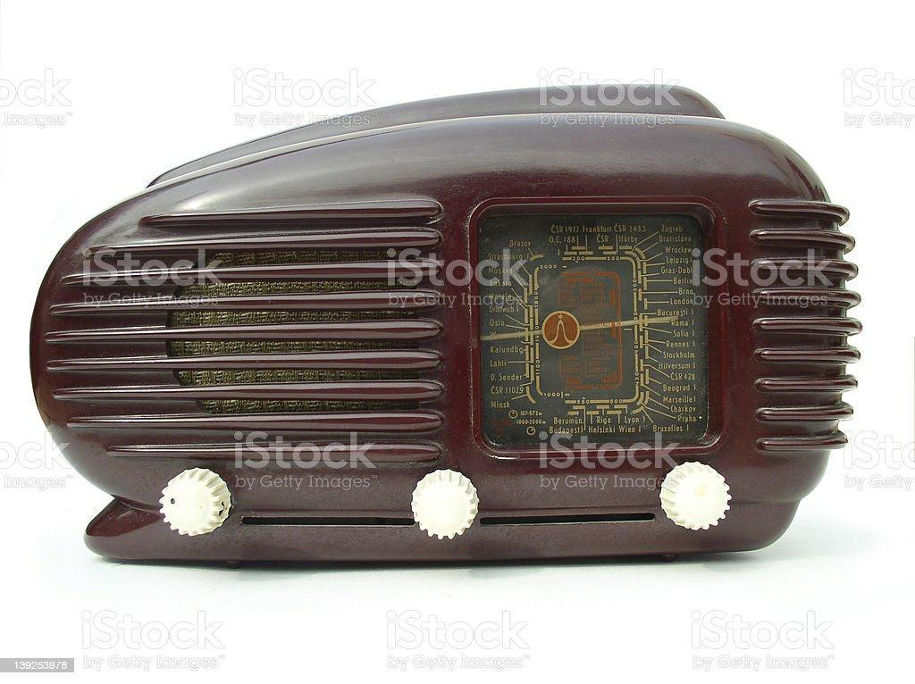 1940s radio stock photo